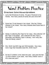 subtraction word problems free printable worksheets for second grade math word problems
