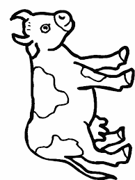 cartoon cow coloring pages omeletta me