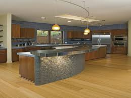 Blue Glass Kitchen Backsplash Modern Kitchen Kitchen Idea Contemporary Blue Glass Tile