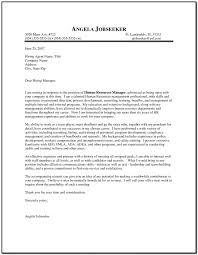 example cover letter for resume human resources cover letter