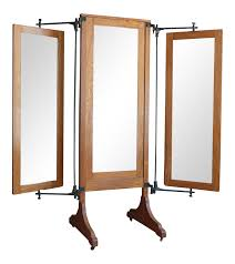 mirror room divider antique oak tri fold dressing mirror chairish