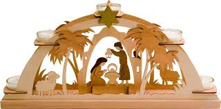 German Christmas Decorations Candles by Nativity Scene Wooden German Christmas Candle Arch