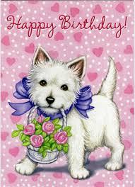 happy birthday westie card