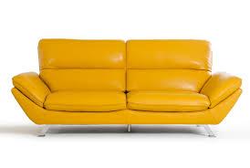 Modern Leather Couch Set Divani Casa Daffodil Modern Yellow Italian Leather Sofa Set