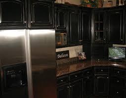 Black Rustic Kitchen Cabinets Extraordinary Kitchen Delightful Distressed Black Cabinets Rustic