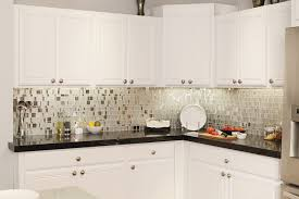 backsplash ideas for white cabinets and black countertops kitchen delectable l shape white kitchen decoration using glass