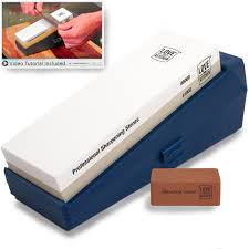 Sharpening Stone For Kitchen Knives by Knife Sharpener Stone Kit Professional Grade Grits 1000 6000