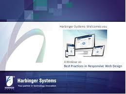 ladaire design webinar best practices in responsive web design by harbinger