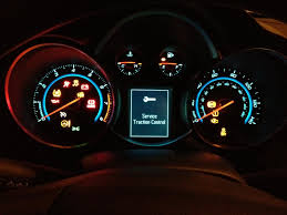 chevy cruze warning lights service traction control