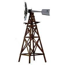 outdoor water solutions 16 ft aeration windmill 4 legged wooden