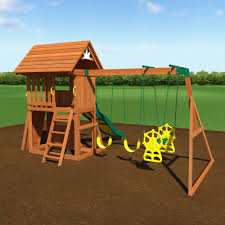 exterior interesting backyard playsets with swing sets and pea