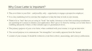 importance of cover letter