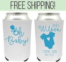 baby shower koozies baby shower koozies personalized koozies oh baby gender reveal