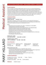 Catchy Resume Templates Medical Assistant Resume Template Berathen Com