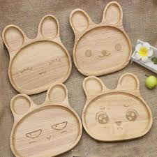 nana baby dinnerware set dishes bamboo plate bunny