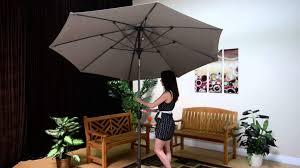 Patio Umbrella Cord by Galtech Auto Tilt Umbrellas Youtube