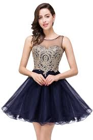 new lace appliuqes black short homecoming dresses 2017 illusion