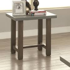 end tables cheap prices 70424 rectangle end table with concrete top quality furniture at