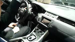 evoque land rover interior range rover evoque interior paris motorshow 2010 youtube