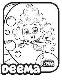 bubble guppies coloring pages getcoloringpages