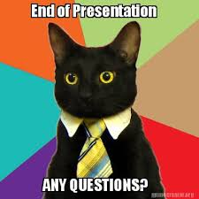 Any Questions Meme - meme creator end of presentation any questions meme generator
