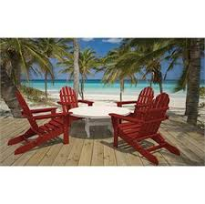 polywood adirondack conversation set 5 piece furniture for patio