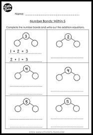 kindergarten math number bond worksheets and activities little