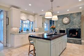antique white kitchen design wood mode cabinets oyster bay
