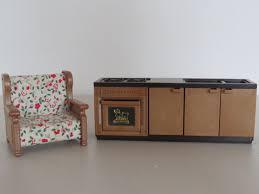 sylvanian families cuisine meuble sylvanian family fauteuil sylvanian cuisine par recrevintage