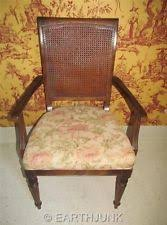Ethan Allen Classic Manor Caned Back Arm Chair Maple Wood - Ethan allen classic manor dining room table