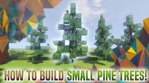 how to build small pine trees in minecraft tutorial