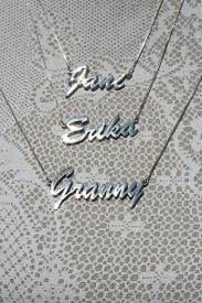 personalised name necklace personalised sterling silver name necklace ziv designs