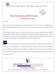 Nlp Certified Master Practitioner Workshop Nlp Basic Practitioner Certification Course With Entrepreneurial Comp
