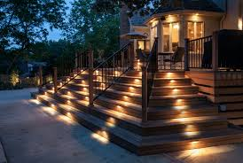 deck stair lighting kits home design ideas
