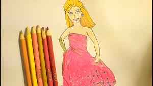 draw barbie step step easy princess popstar