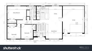 split floor plan house plans magnificent 50 house floor plan with dimensions design
