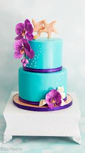 teal and purple wedding cake cake by bliss pastry cakesdecor