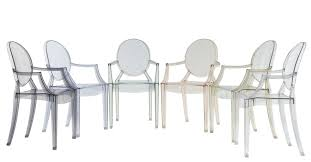 louis ghost stackable armchair transparent polycarbonate