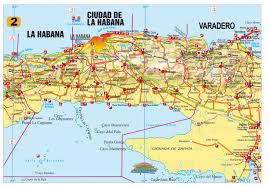 Cuban Map Destino Varadero Beach Cuba