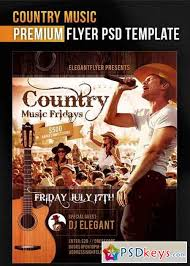 template flyer country free country music v1 flyer psd template facebook cover free download