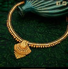 gold short chain necklace images Gold short necklaces gold jewellery anna nagar chennai png