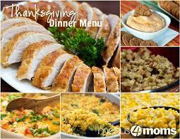 traditional thanksgiving dinner menu plan busy menu for thanksiving