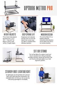 Best Sit Stand Desk by Amazon Com Uptrak Standing Desk By Stand Steady Square Level