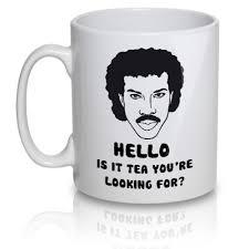 3 x lionel richtea mug hello is it tea you re looking for