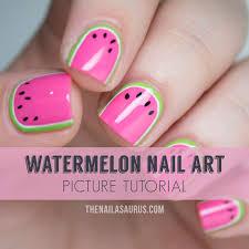 watermelon nail art tutorial the nailasaurus uk nail art blog