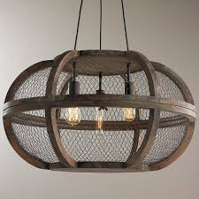 Chandelier Rustic Rustic Wooden Cage Chandelier Antique Farm Table Triangle Shape