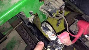 john deere z225 starter solenoid replacement youtube