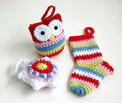 crochet christmas ornaments crochet owl stocking star bauble