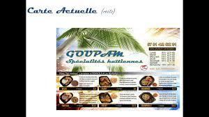 carte au bureau resto goupam spécialités haïtiennes