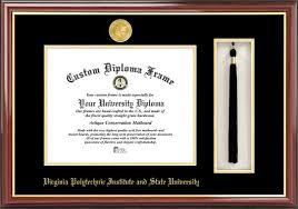 tech diploma frame virginia tech diploma frame gold medallion tassel box